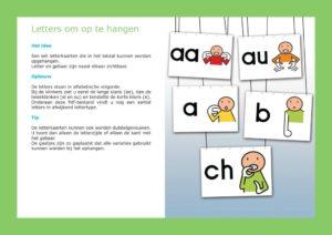 Letterkaarten voorbeeldpagina